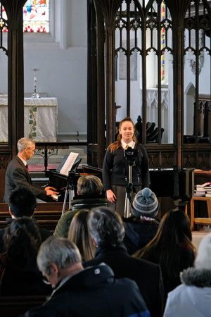 Billianna performing in St Michael's Church