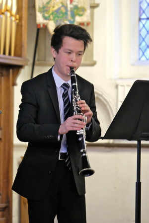 Scott on Clarinet in St Michael's Church