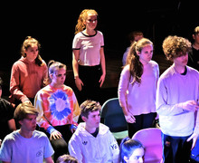 Performance of L5th Devised Play in Leo Price Theatre
