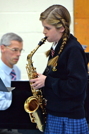 Saxophonist in Prep School