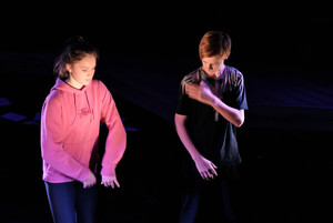 L5th boy and girl perform their Devised Play