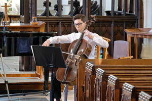 St Michael's Music recital with Chris on cello Jan 2018
