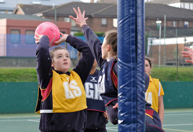 House Netball matches in the Senior School