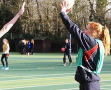 House Netball Shooter in Senior School matches