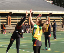 Senior School Girls playing House Netball matches
