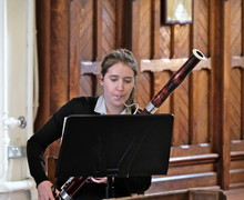 Ailsa plays bassoon in recital in St Michael