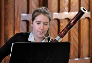 Ailsa plays bassoon in recital in St Michael's Church