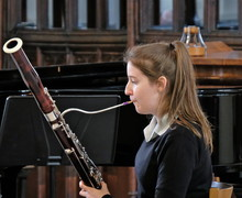 Ailsa on bassoon in recital in St Michael
