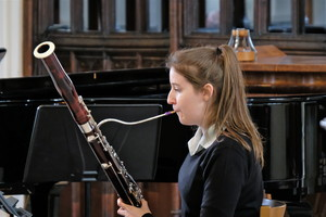 Ailsa on bassoon in recital in St Michael's Church