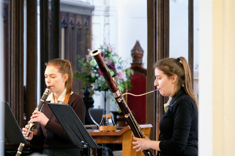 Ailsa and Mary performing in St Michael's Church