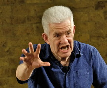 Ian McMillan speaking at Festival of Literature