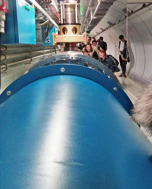 A level physics students inside cern
