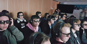 A level students enjoying cern 2018