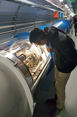 Physics a level student at cern
