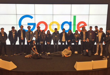 Google visit by sixth form business students
