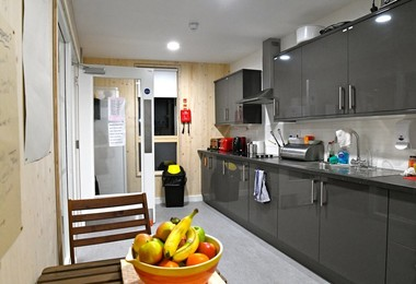Trotman House kitchen with fruit