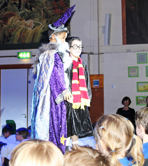 Harry potter and wizard in shell play