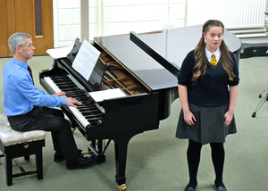 Billianna singing in 4th Form Concert