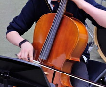 Cellist in 4th Form Concert