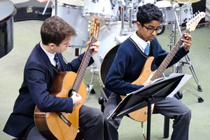 Guitarists in 4th Form Concert