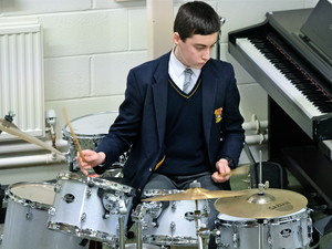 4th Form Concert Boy on drums