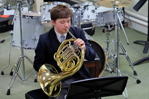 4th Form Concert French Horn playing