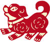 Chinese new year dog image reverse