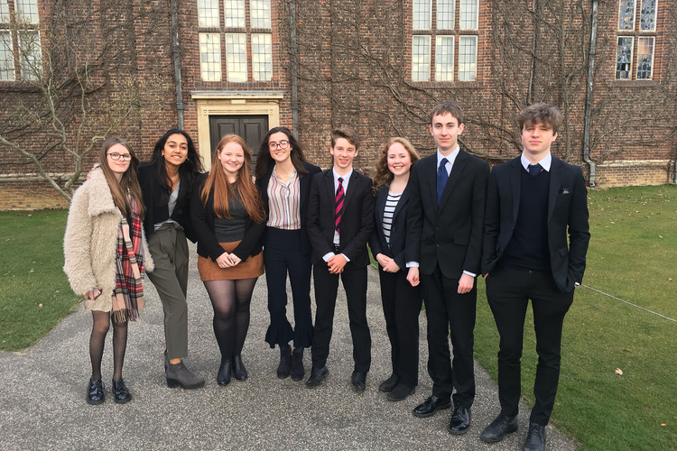 Sixth form students taking part in un model conference