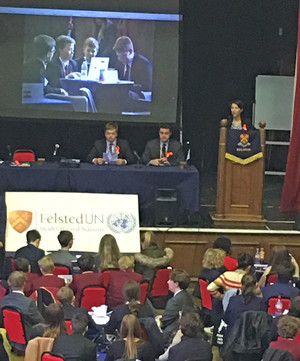 Model UN Conference at Felsted School