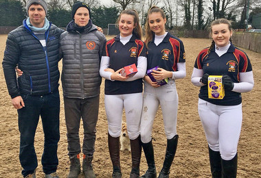 Polo team after match on sun 4 march