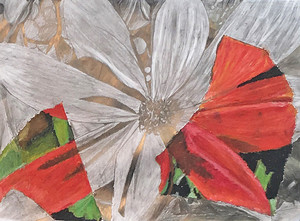 Chigwell art exhibit flower painting