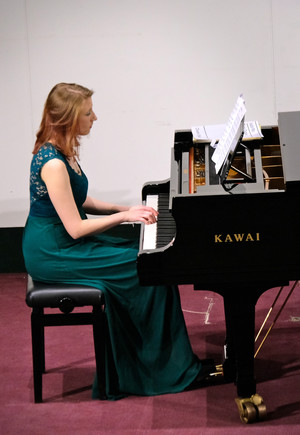 Madelaine Jones on piano in Hanbury Wealth Recital