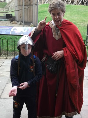 Upper Shell pupil dressed up at Tower of London