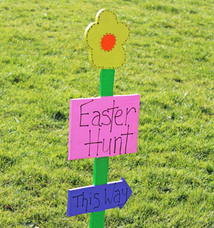 Pre-Prep Easter hunt sign