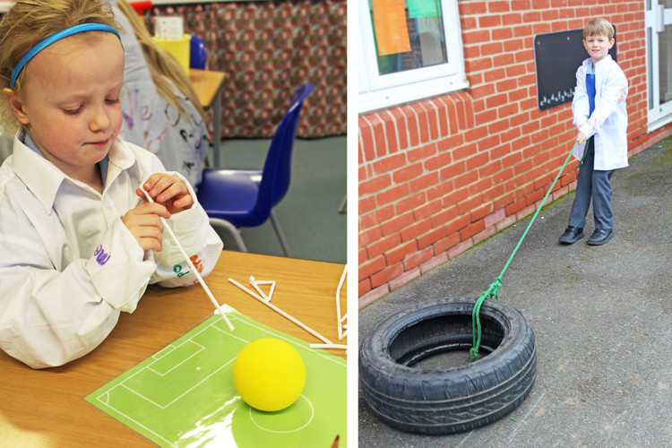 Year 1 testing pulling forces in science