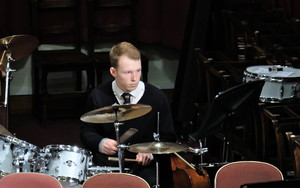 Sixth Form Drummer at Ensemble Concert March 2018