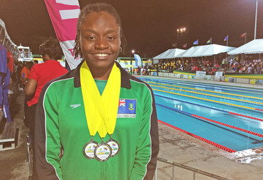 College Swimmer Heads for Youth Olympics