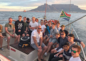 On boat on senior school cricket tour to s africa