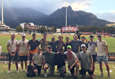 Senior School cricketers together in S Africa