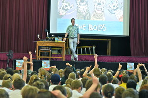Prep School & local schools with Julian Clary