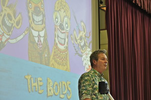 Julian Clary entertains Prep School audience