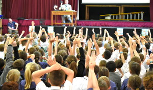 Julian Clary Visit to Prep School