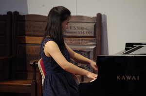 Girl pianist in Rotary Young Musician Competition 2018