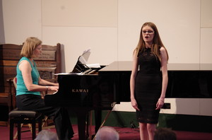 Singing in Rotary Young Musician Competition in Mem Hall