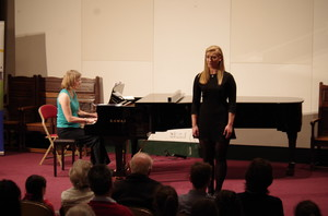Pupil singing in Rotary Young Musician Competition