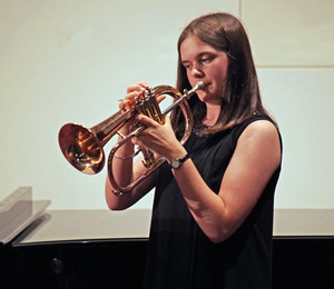Girl competing in Rotary Young Musician Competition