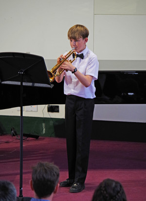 Pupil competing in Rotary Young Musician Competition
