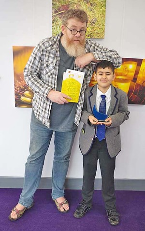 Lower Shell to Form 2 Poetry Declamation Winner with AF Harrold