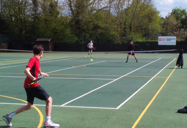 Senior School tennis doubles match