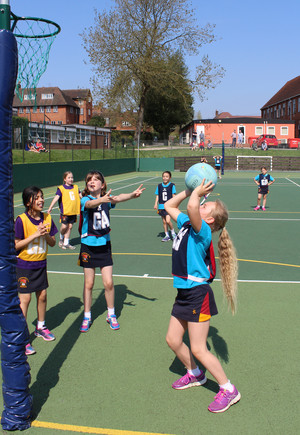 Shell pupils playing netball in league competition
